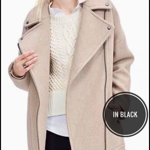 Banana Republic Oversized Moto Coat